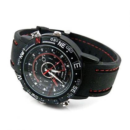 腕時計型カメラ 暗視補正 WEBカメラ 8GB内蔵 腕時計スパイカメラ