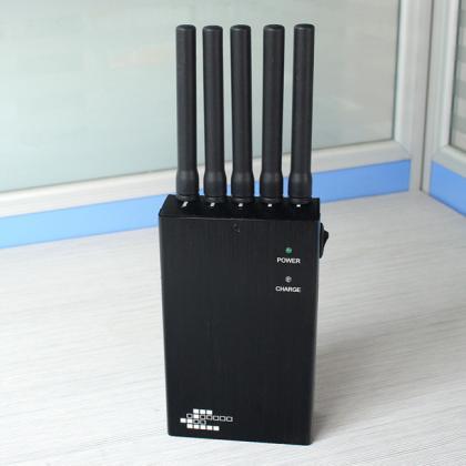 8341HA-5携帯ジャミング装置ジャマー 5本アンテナ GPS1-5電波妨害機 遮断帯調整可能
