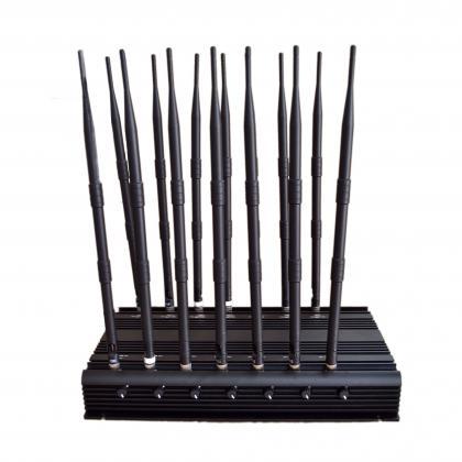 強力携帯妨害器 電波妨害ジャマー 様々な周波数を遮断 電波等を圏外に 14本のアンテナ